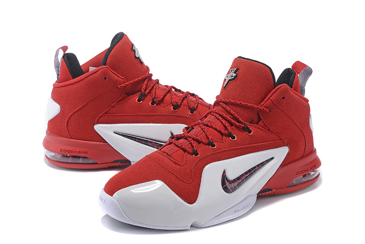 New Nike Penny Hardaway 6 Red White Sneaker For Sale