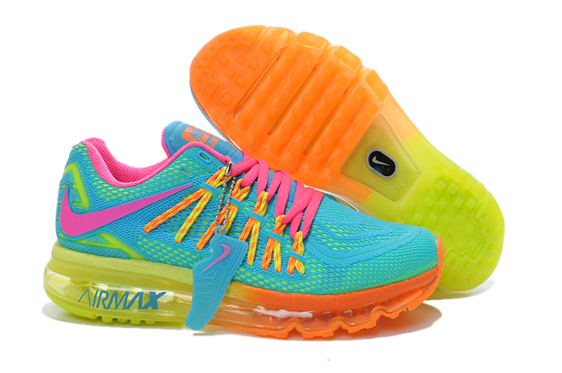 Nike Women Air Max 2015 Rainbow Runnings Shoes