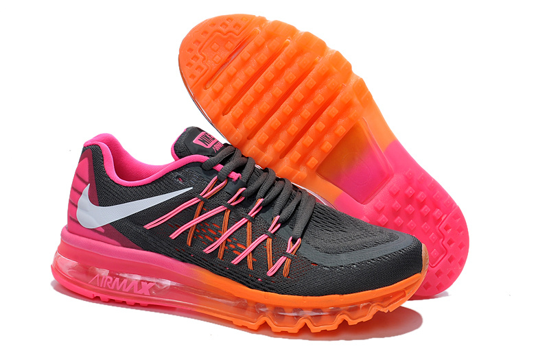 Nike Women Air Max 2015 Black Orange Pink Shoes