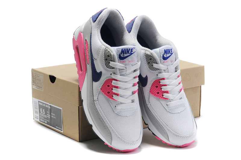 Nike Women Air Max 90 Grey Pink Running Shoes