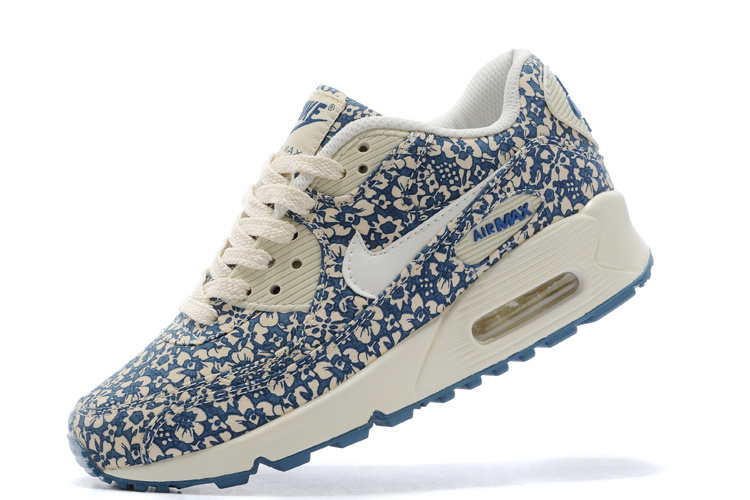 Nike Women Air Max 90 Leopard Dark Blue Print Runnings
