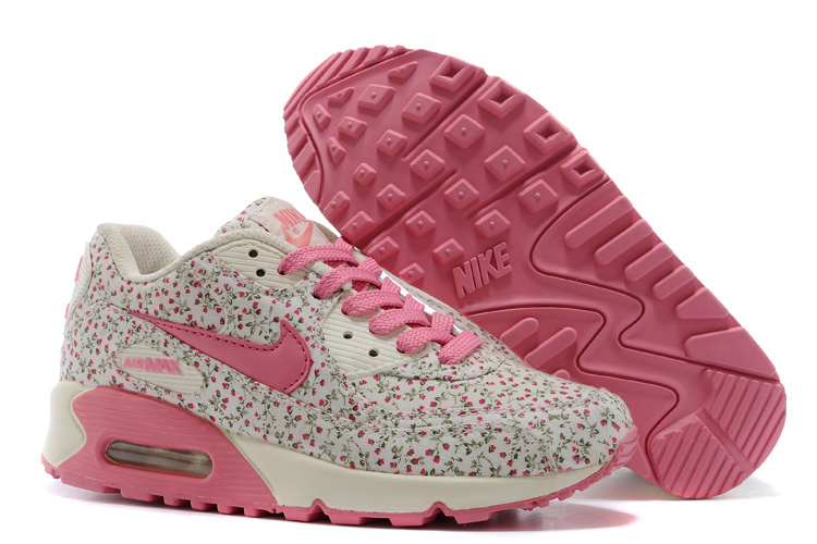 Nike Women Air Max 90 Leopard Pink Print Runnings
