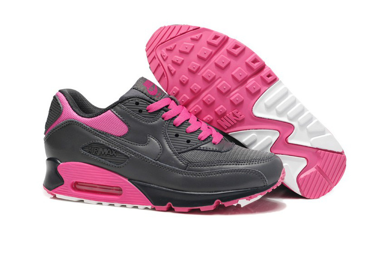 Nike Women Air Max 90 Pink Black Running Shoes