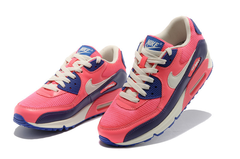 Nike Women Air Max 90 Red Black Running Shoes
