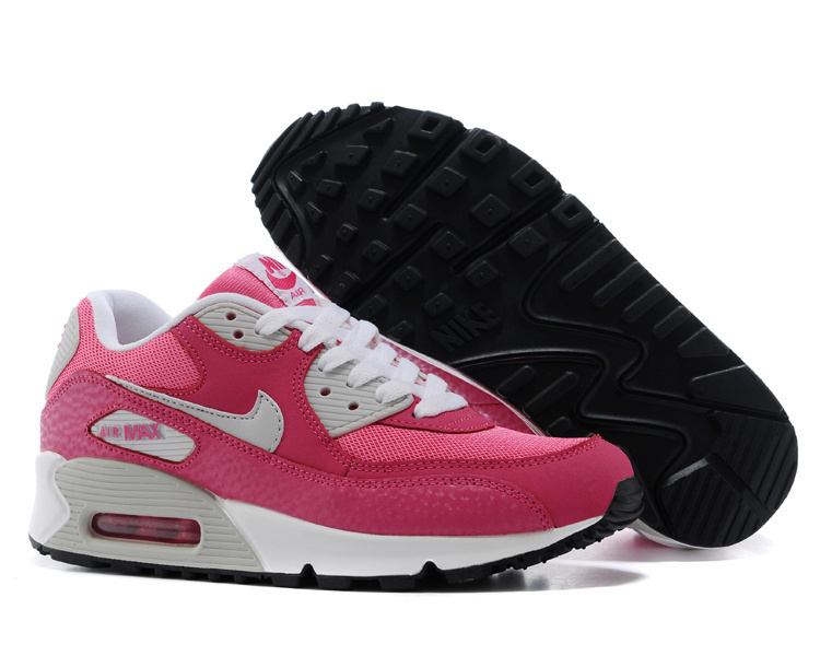 Nike Women Air Max 90 White Pink Running Shoes