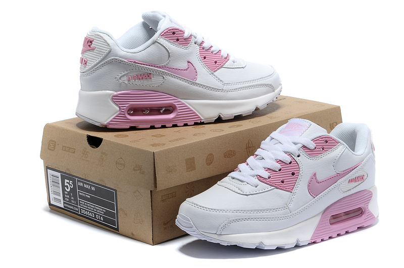 Nike Women Air Max 90 White Pink Runnings