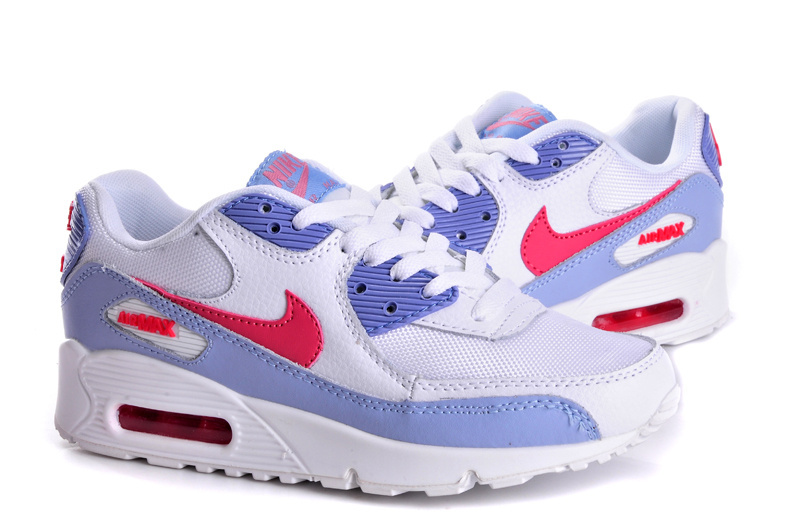Nike Women Air Max 90 White Purple Red Runnings
