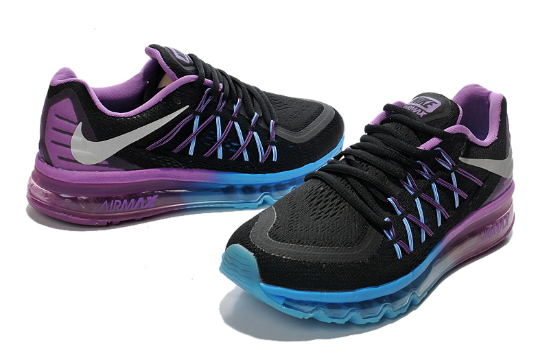 Nike Women Air Max 2015 Black Blue Pink Runnings