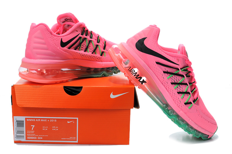 Nike Women Air Max 2015 Pink Red Green Runnings