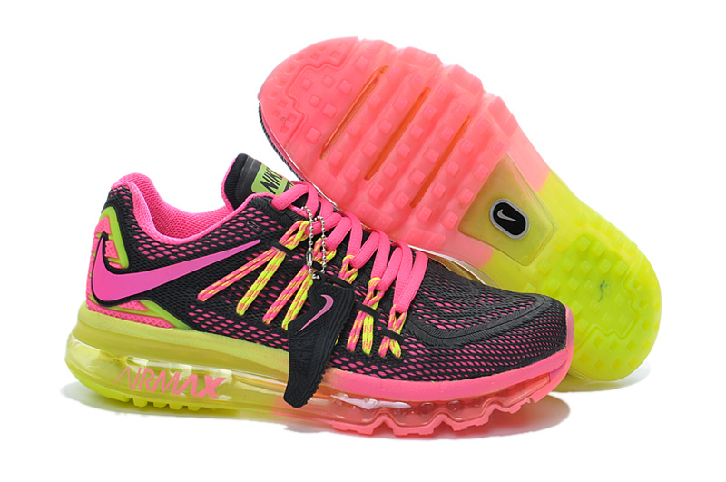 Nike Women Air Max Rainbow Black Pink Yellow Runnings