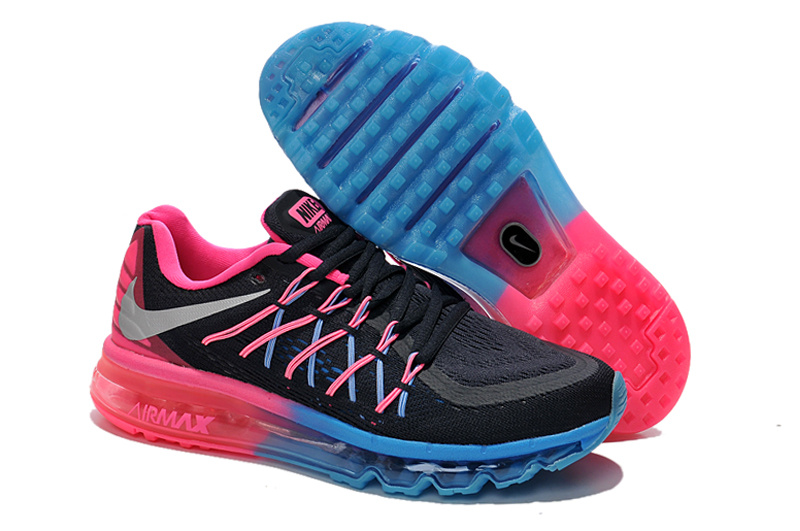 Nike Women Air max 2015 Black Pink Blue Running
