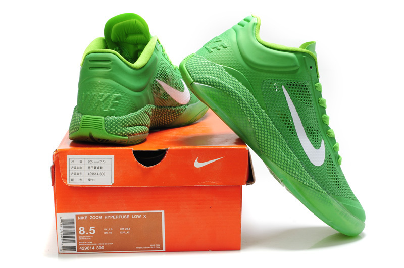 Nike Zoom Hyperfuse 2011 Low 5 Original All Green Shoes
