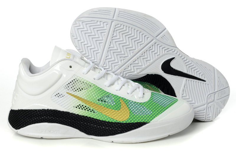 Nike Zoom Hyperfuse 2011 Low 5 Original White Green Black Shoes