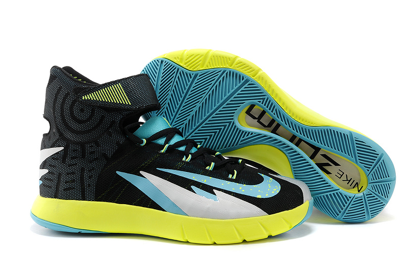 Nike Zoom Hyperrev Kerry Irving Original Black Blue Yellow Shoes