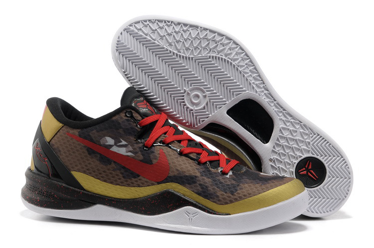 Nike Zoom Kobe 8 Classic Brown Black Red Shoes
