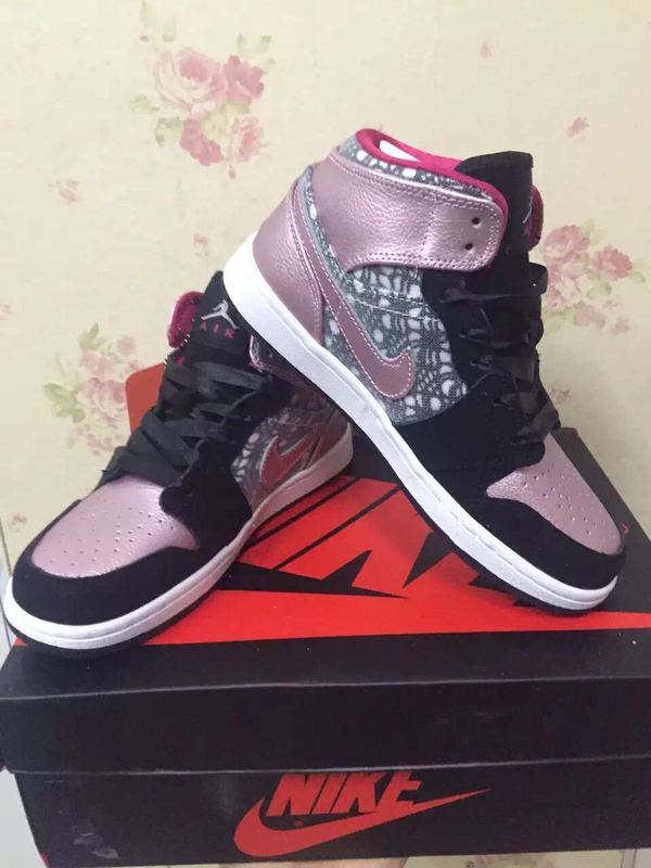 Nike Air Jordan 1 Black Pink Women Size On Sale