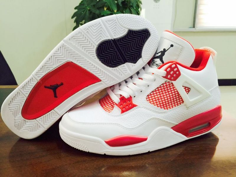 Nike Air Jordan 4 Alternate 89 Melo White Red Sneaker