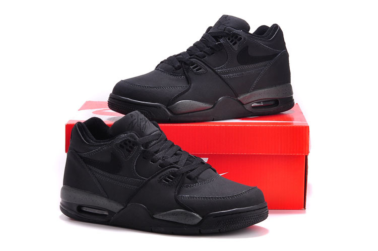 Original Nike Air Flight 89 Classic All Black Shoes