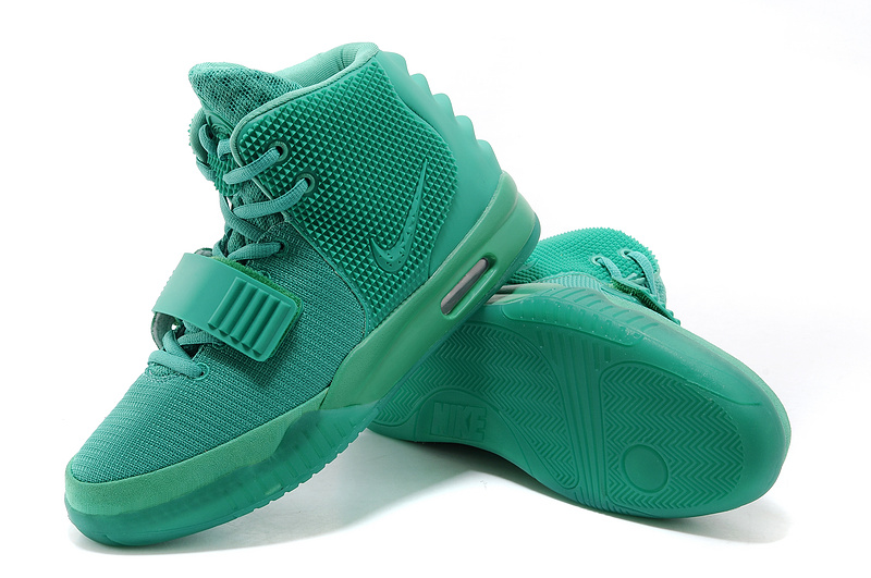 Original Nike Air Yeezy 2 Classic Green Lantern Lovers Shoes