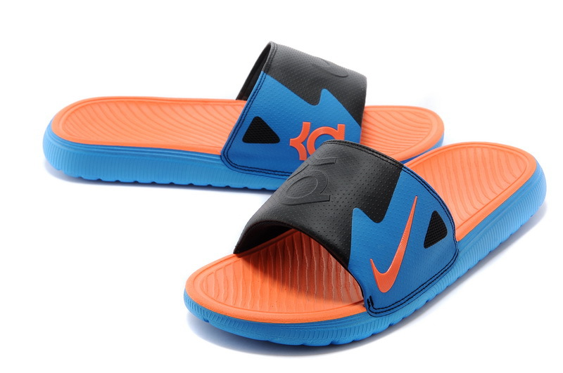 Original Nike Kevin Durant Hydro Blue Black Orange Slipper