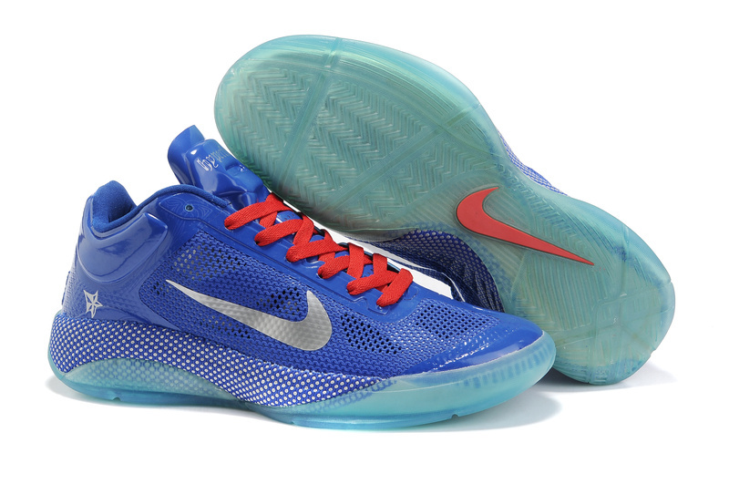 Original Nike Zoom Hyperfuse 2011 Low 5 Classic Blue Red Shoes