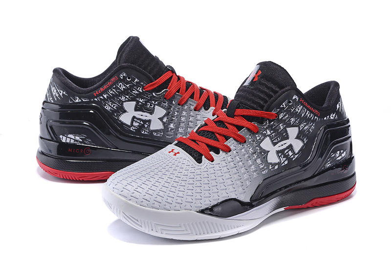 New UA Clutchfit Drive Low Black White Red Sneaker For Sale