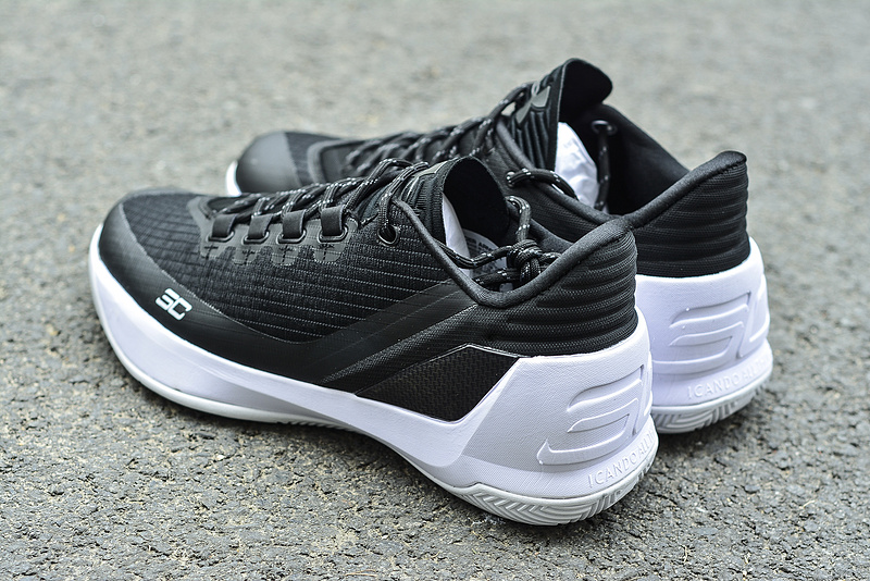UA Curry 3 Shoes Oreo White Black Version