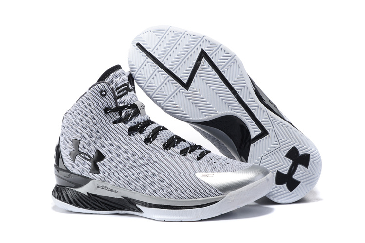 UA Stephen Curry 1 Black Grey Silver Shoes
