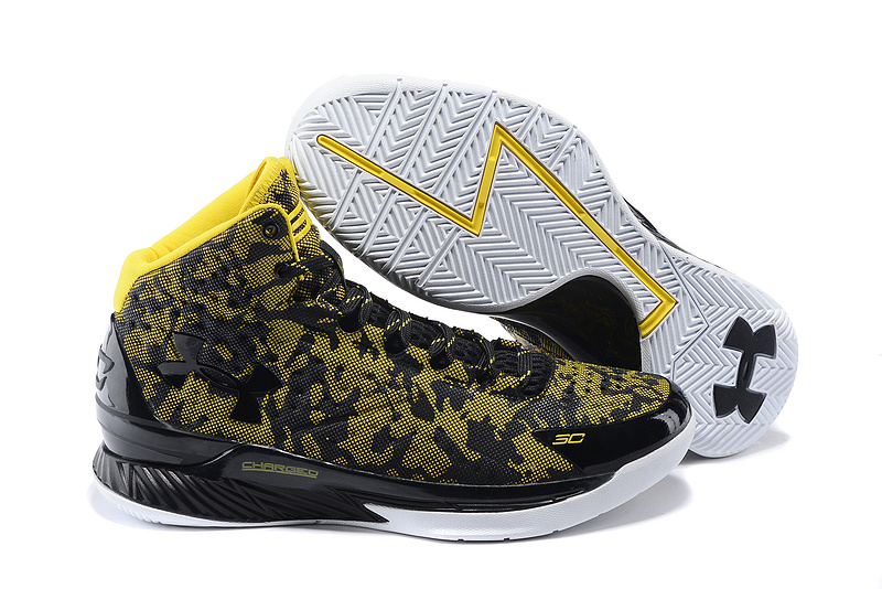 UA Stephen Curry 1 Black Yellow Shoes