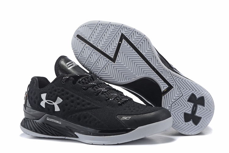 UA Stephen Curry 1 Low Black Grey Shoes