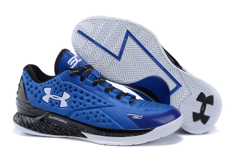 UA Stephen Curry 1 Low Blue White Shoes