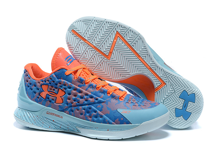 UA Stephen Curry 1 Low Easter Blue Orange Shoes