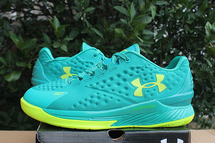 UA Stephen Curry 1 Low Grass Green Shoes