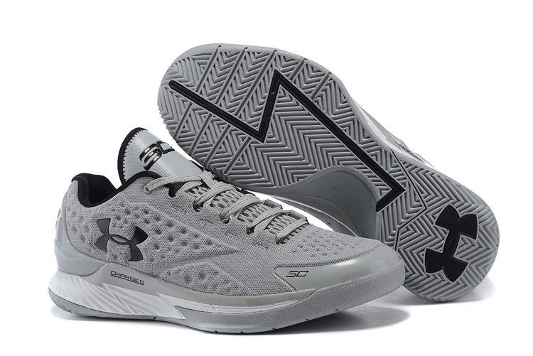 UA Stephen Curry 1 Low Grey Black Shoes