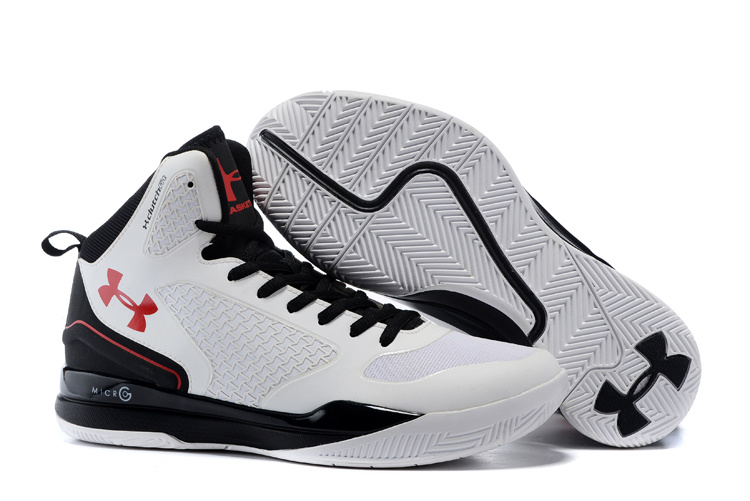 UA Stephen Curry 3 White Black Red Shoes