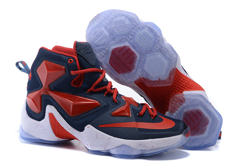 Wholesale More Cheaper Nike Lebron 13 Obsidian Gym Red White On Sale