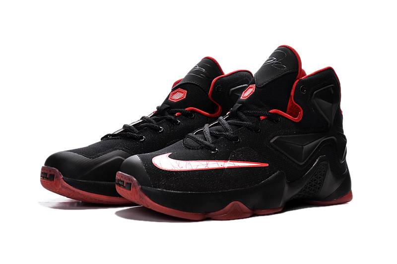 Women Nike Lebron James 13 Black Red Shoes