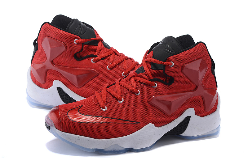 Nike Lebron James 13 Red Black White Shoes For Women