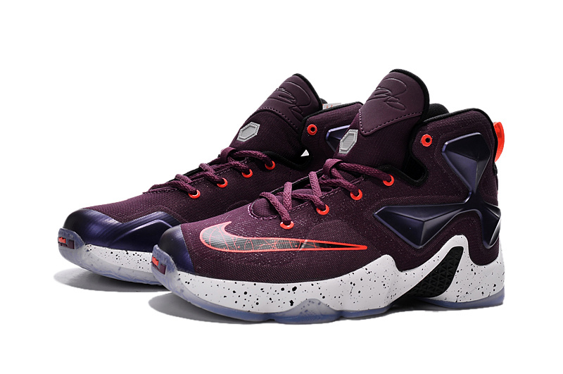 Lebron James 13 Wine Red Purple Shoes For Women